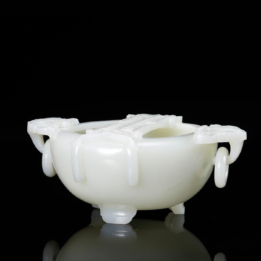 CHINESE WHITE JADE BRUSH WASHER - 3