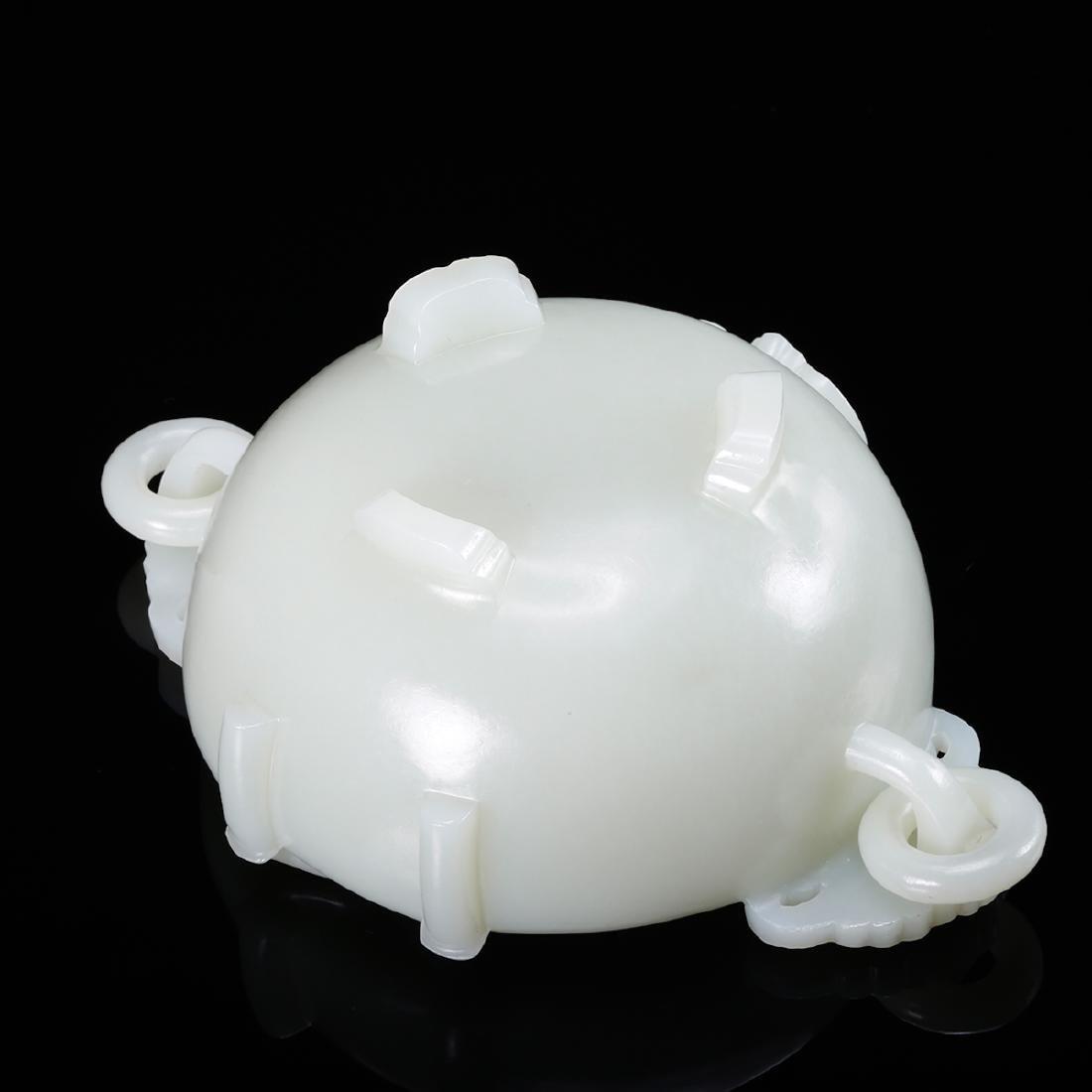CHINESE WHITE JADE BRUSH WASHER - 6
