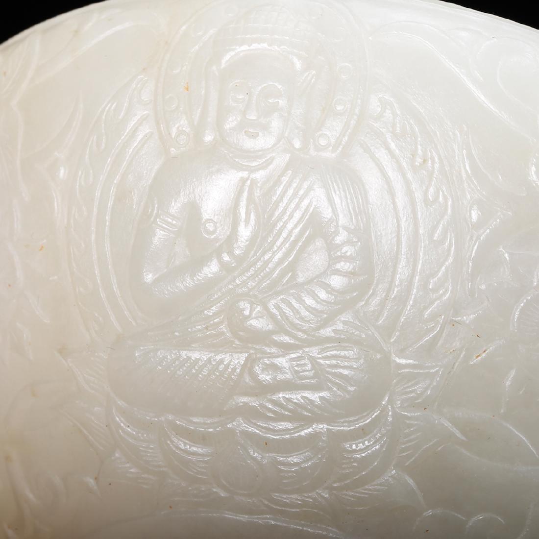 CHINESE WHITE JADE BRUSH WASHER - 7