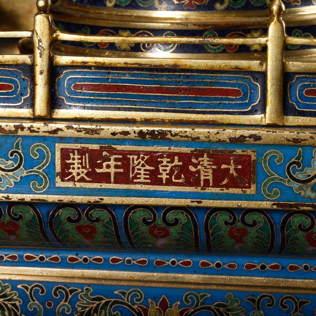 CHINESE CLOISONNE BUDDHIST STUPA - 9