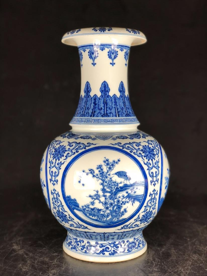 CHINESE BLUE WHITE PORCELAIN VASE - 2