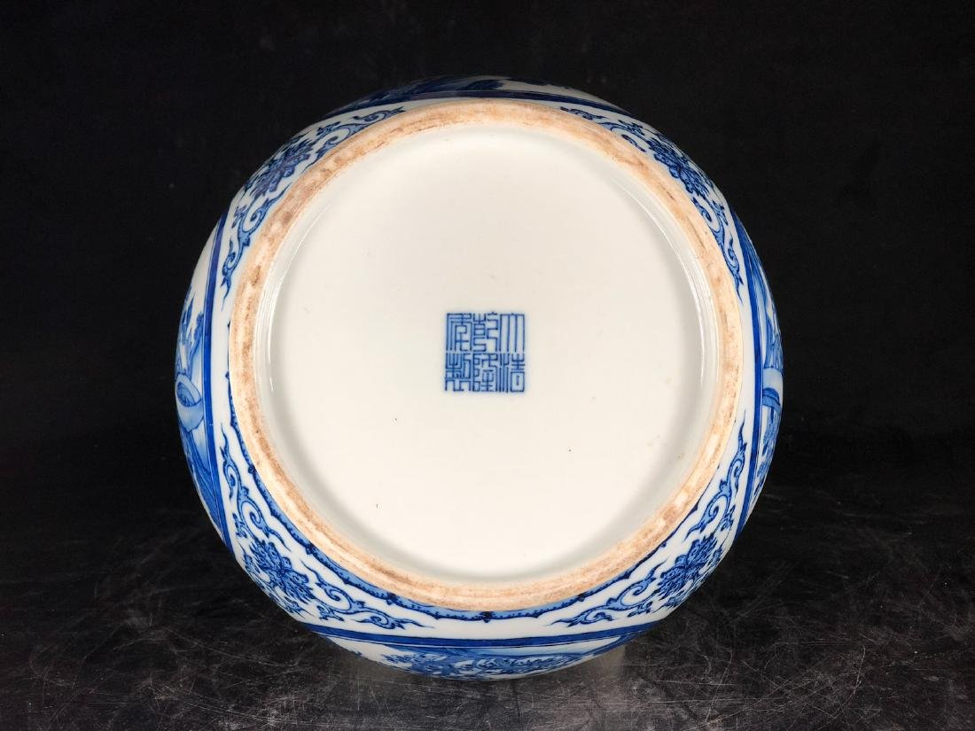 CHINESE BLUE WHITE PORCELAIN VASE - 6
