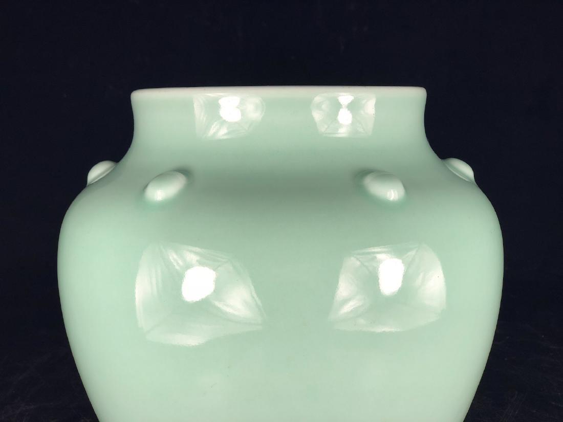 CHINESE CELADON GLAZED PORCELAIN JAR - 3