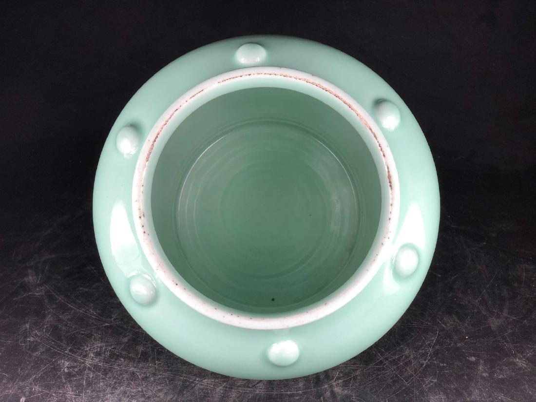 CHINESE CELADON GLAZED PORCELAIN JAR - 4