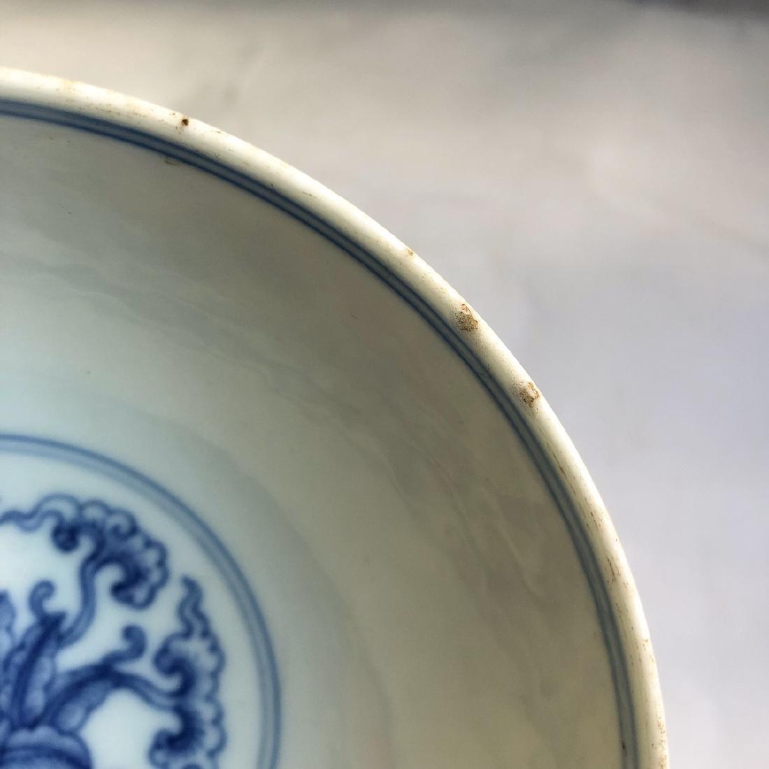 CHINESE BLUE WHITE PORCELAIN BOWL - 6