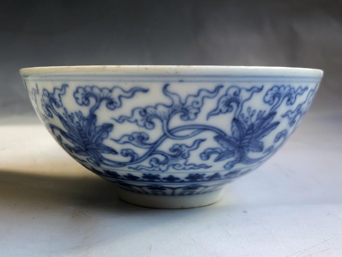 CHINESE BLUE WHITE PORCELAIN BOWL - 9