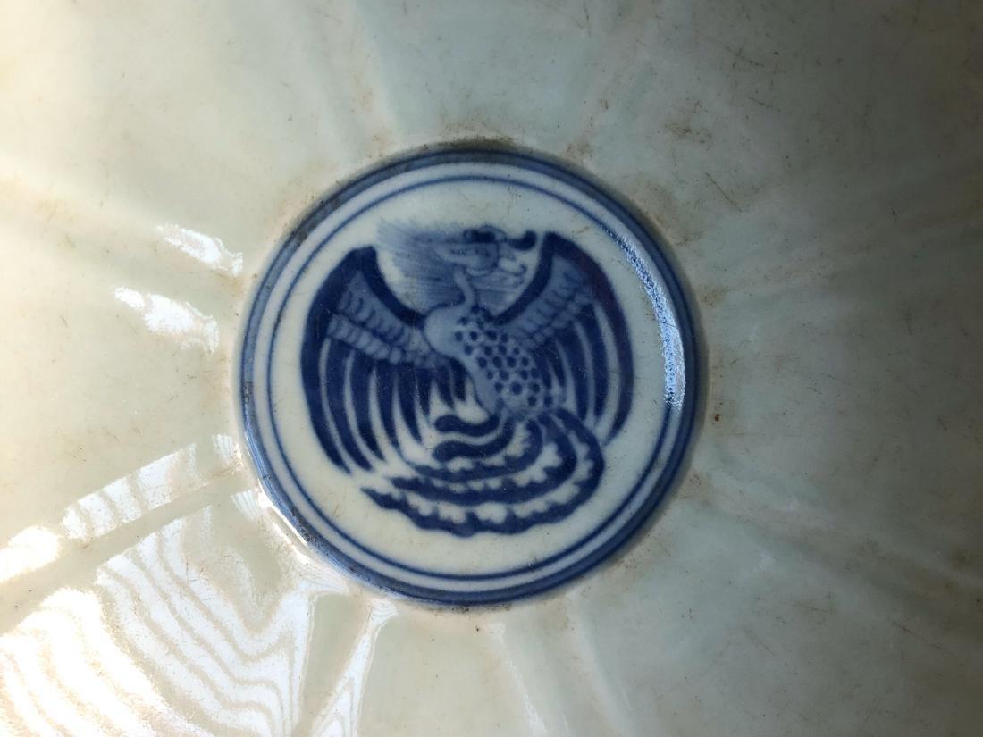 CHINESE BLUE WHITE PORCELAIN BOWL - 2