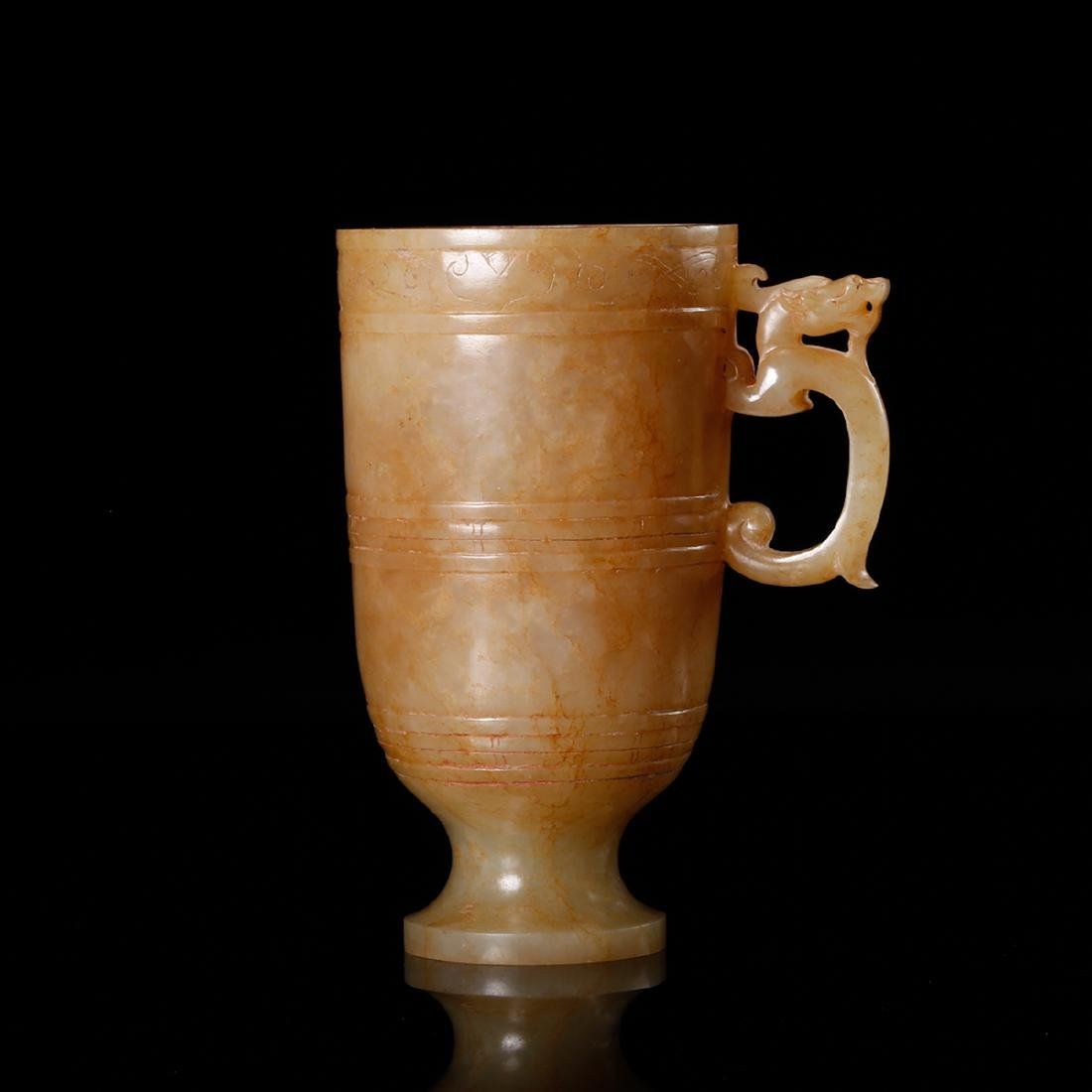CHINESE ARCHAIC JADE CUP