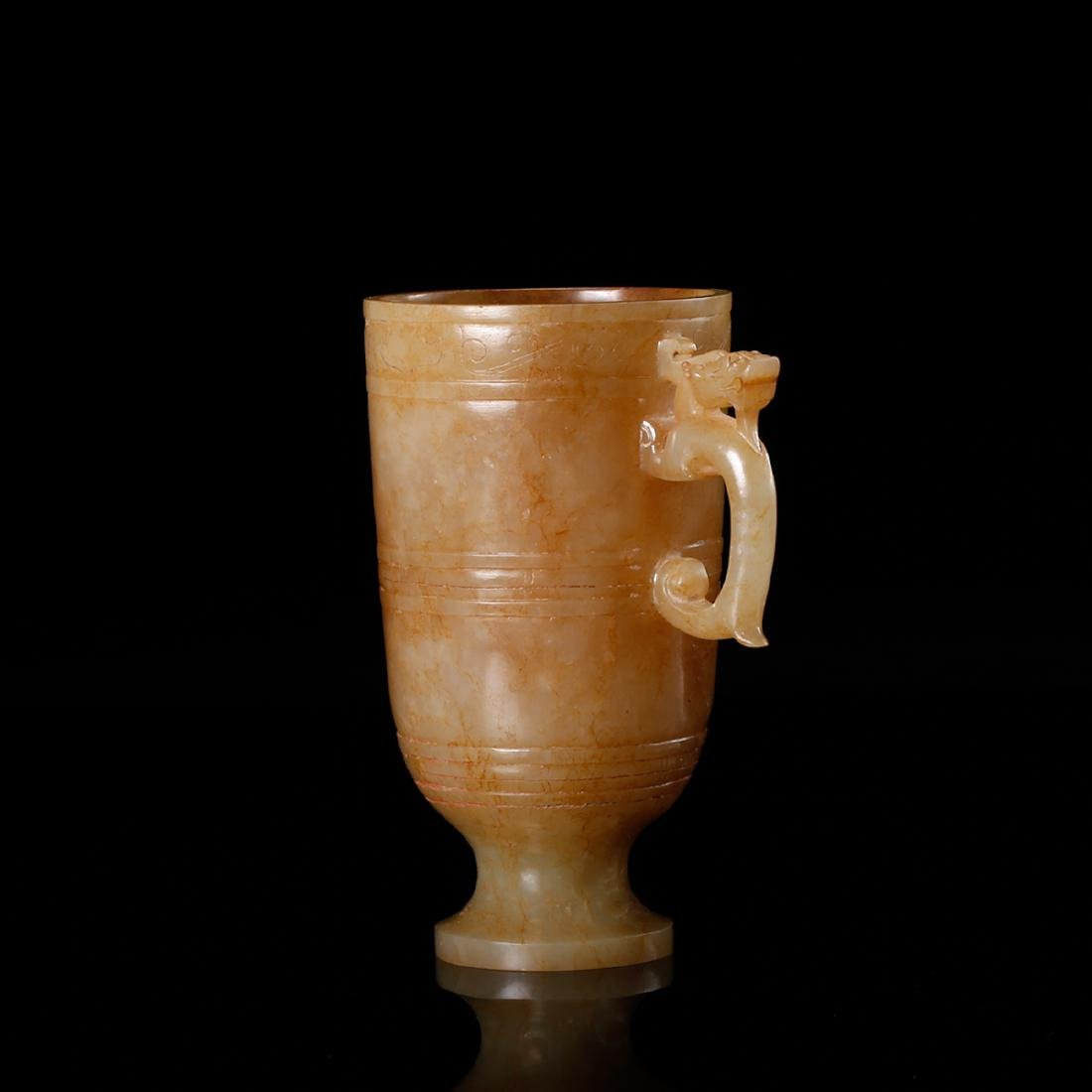 CHINESE ARCHAIC JADE CUP - 3