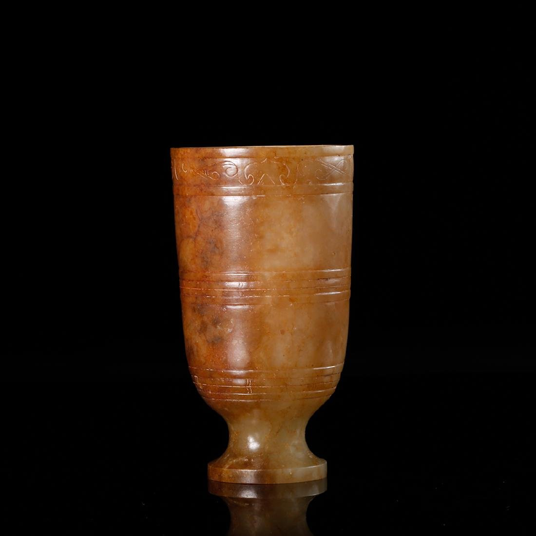 CHINESE ARCHAIC JADE CUP - 4