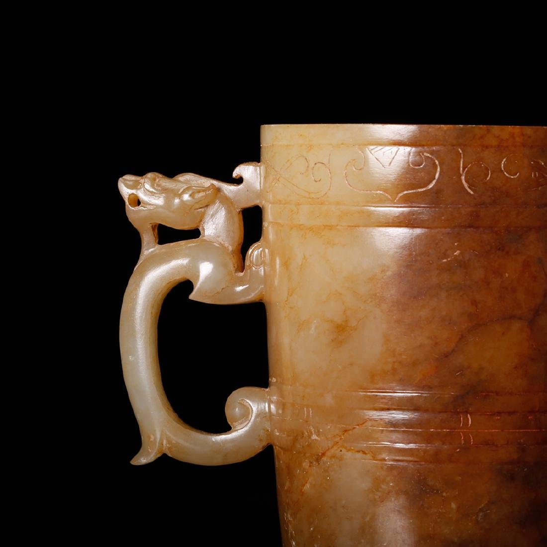 CHINESE ARCHAIC JADE CUP - 7