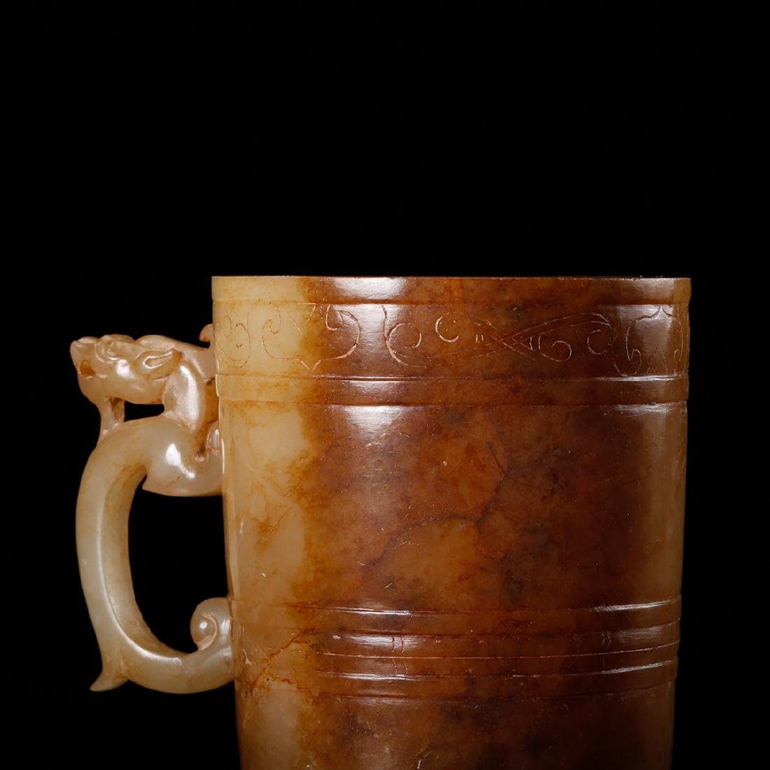 CHINESE ARCHAIC JADE CUP - 8
