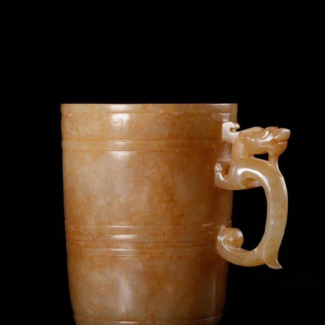 CHINESE ARCHAIC JADE CUP - 9
