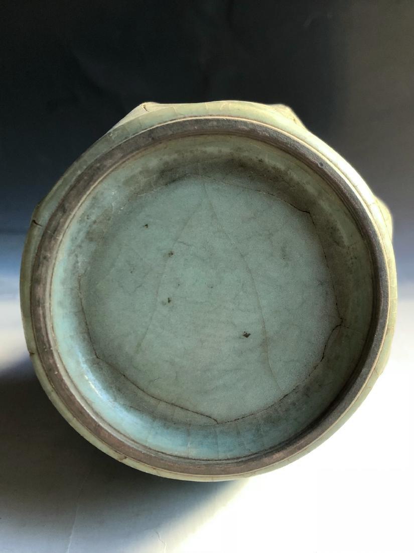 CHINESE CRACKLE GLAZED GE TYPE VASE - 5