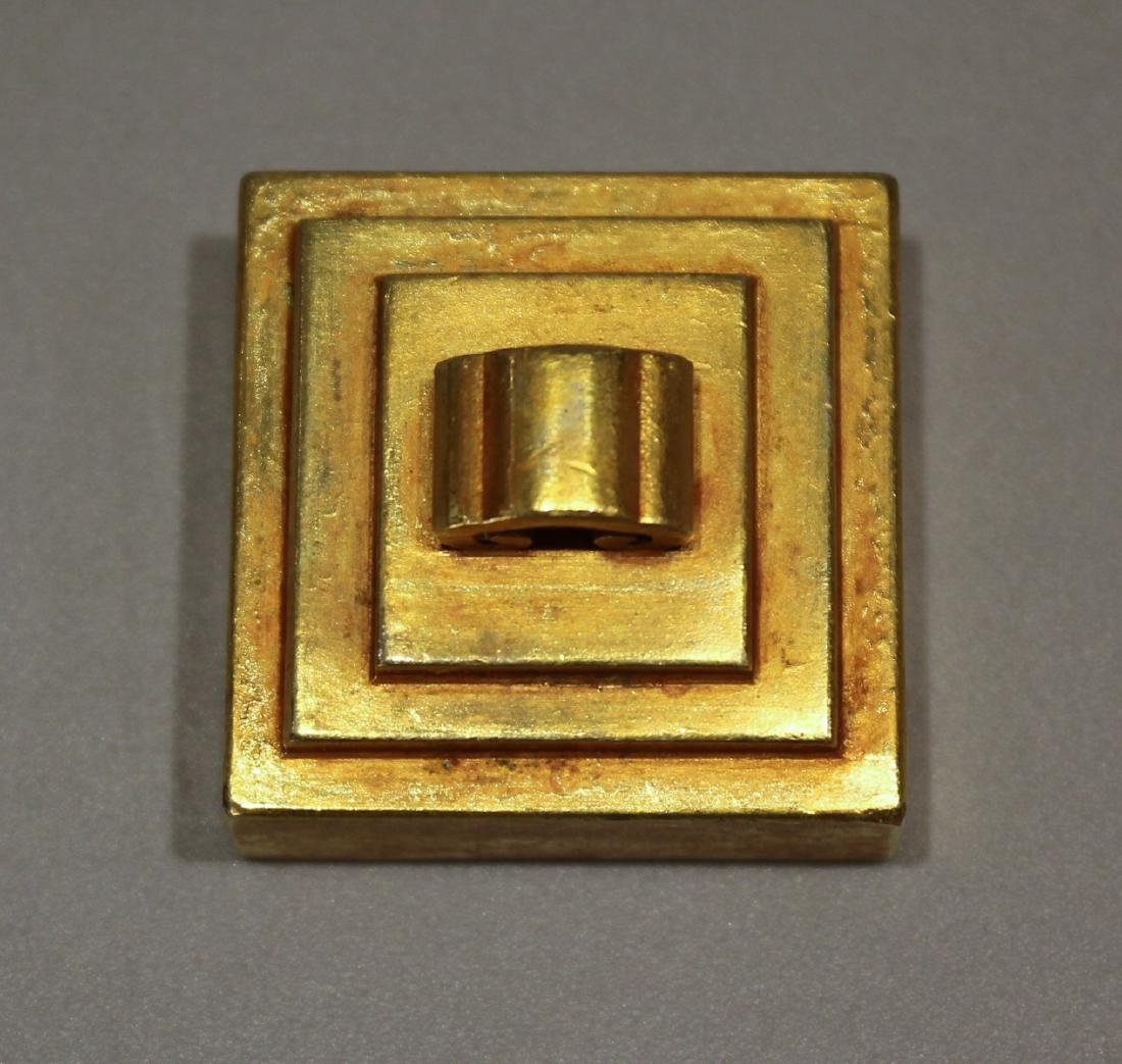 CHINESE GILT BRONZE SEAL - 3