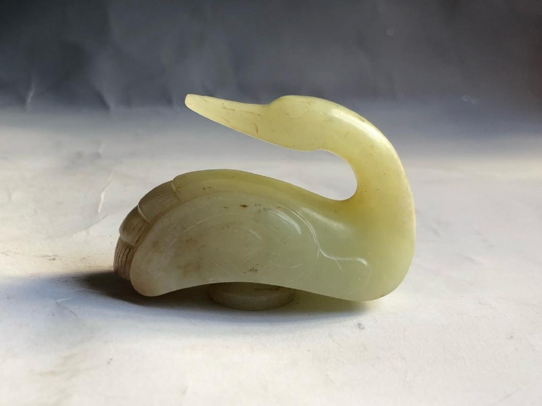 CHINESE JADE CARVED GOOSE