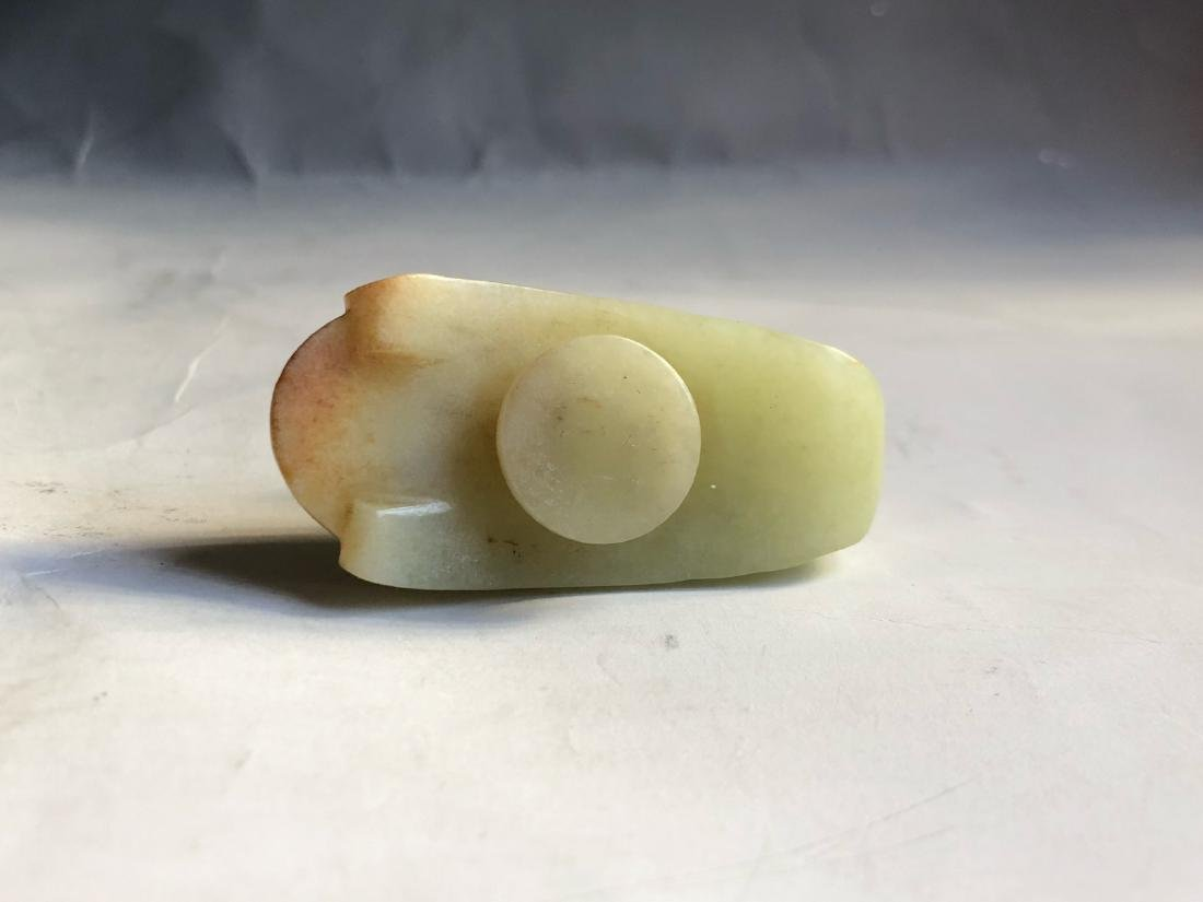CHINESE JADE CARVED GOOSE - 3