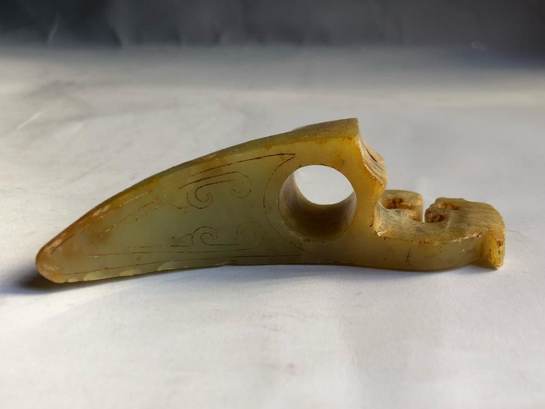 CHINESE JADE CARVED PENDANT - 5