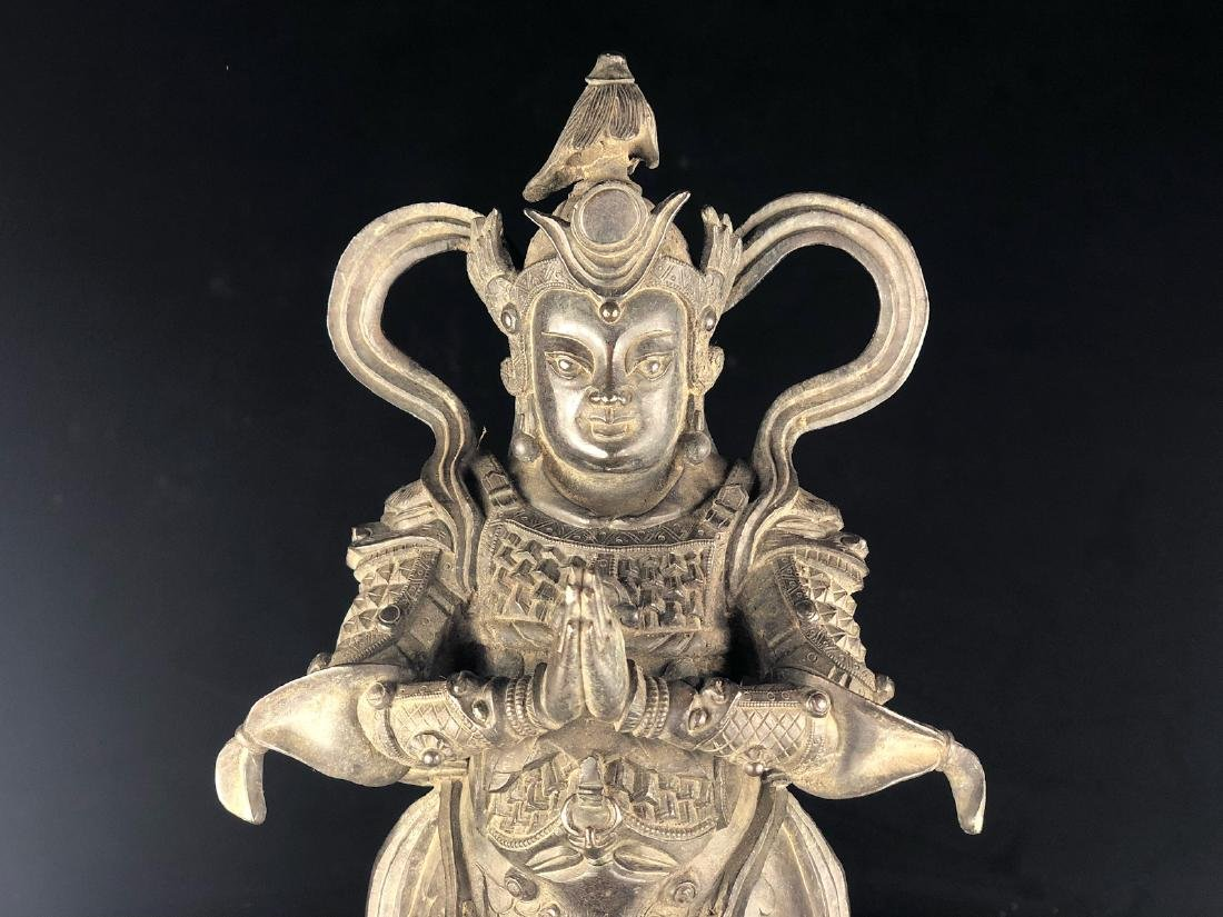 CHINESE MIX METAL BRONZE FIGURE OF WEITUO - 8