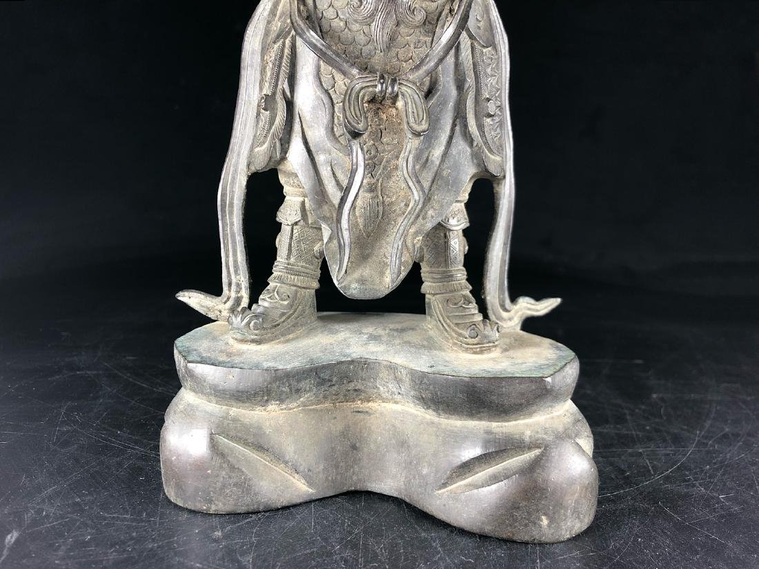 CHINESE MIX METAL BRONZE FIGURE OF WEITUO - 9