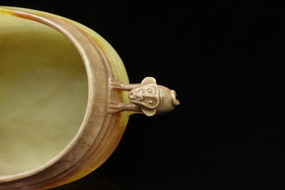 CHINESE JADE CARVED WATER COUPE - 6
