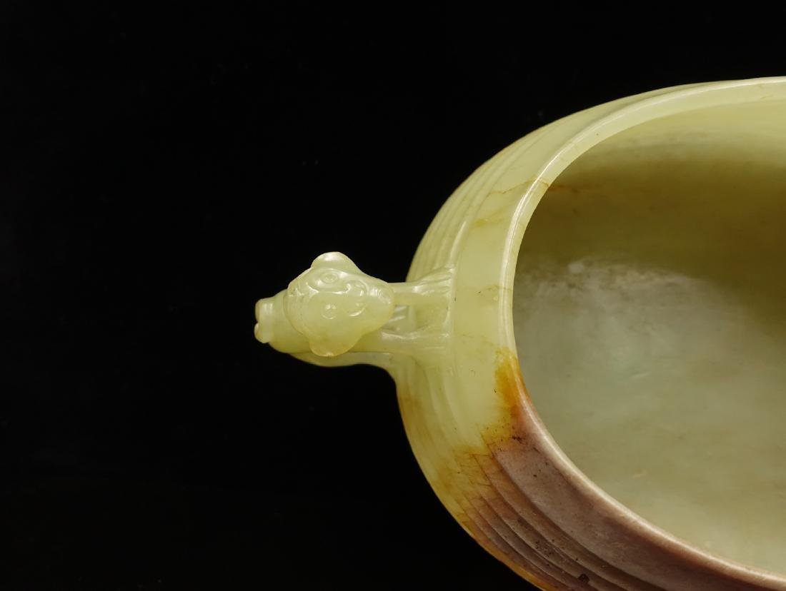 CHINESE JADE CARVED WATER COUPE - 7
