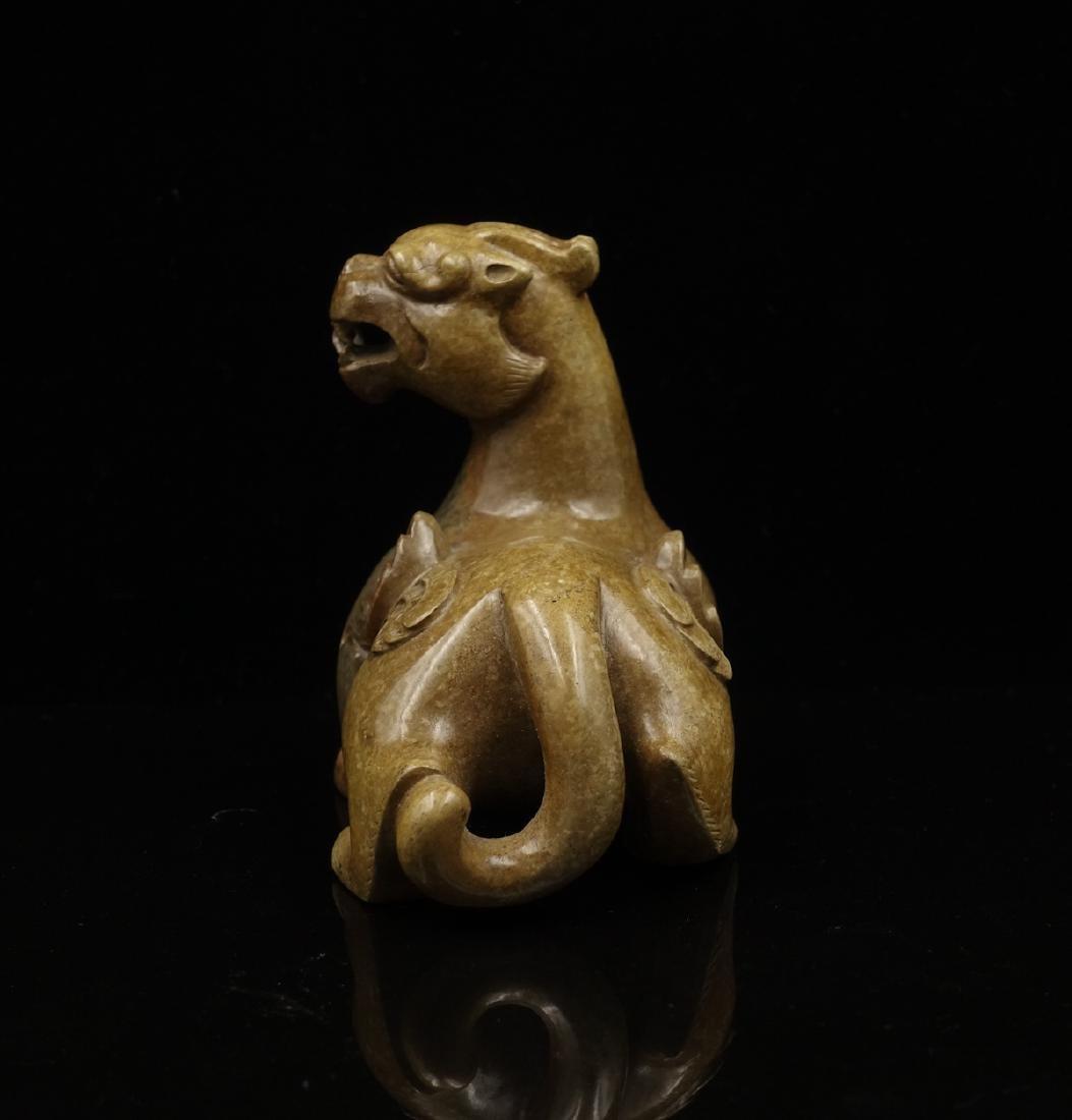 CHINESE ARCHAIC JADE BEAST - 3