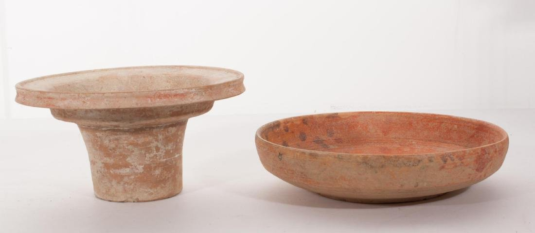 GROUP OF 2 ANCIENT ROMAN CLAY DISH