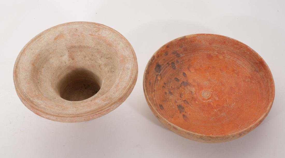 GROUP OF 2 ANCIENT ROMAN CLAY DISH - 2