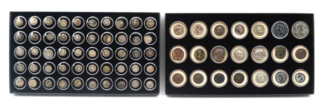 COLLECTION OF ANCIENT ROMAN & GREEK COINS