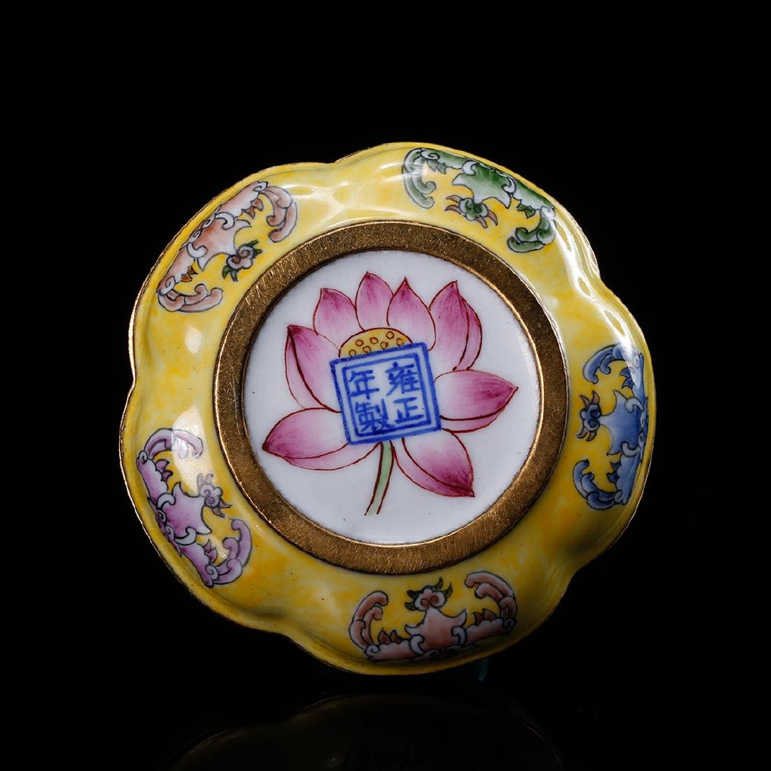 CHINESE BRONZE ENAMEL COVER BOX - 6