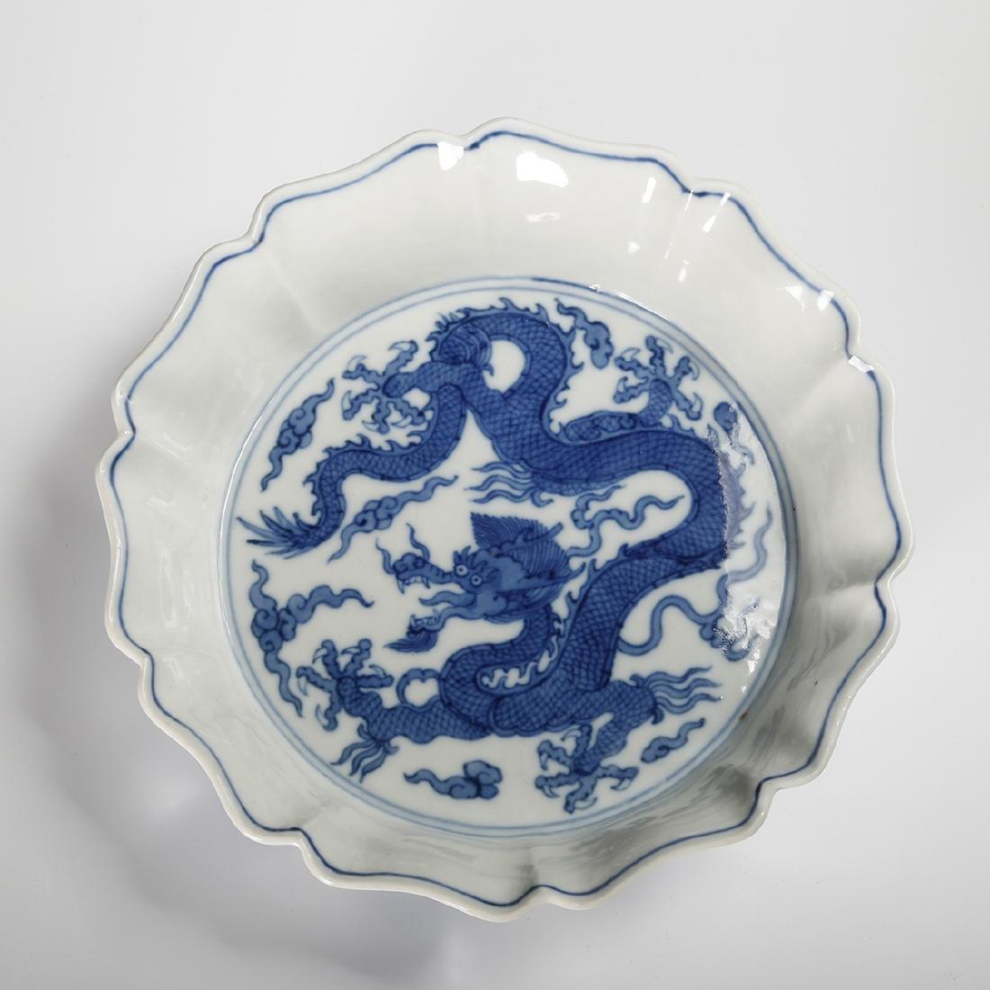 CHINESE BLUE WHITE PORCELAIN BOWL - 4