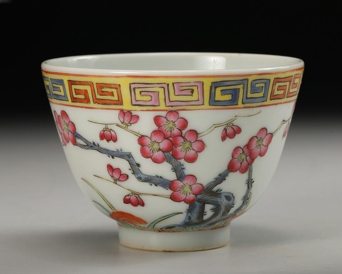 CHINESE FAMILLE ROSE PORCELAIN CUP, QING DYNASTY