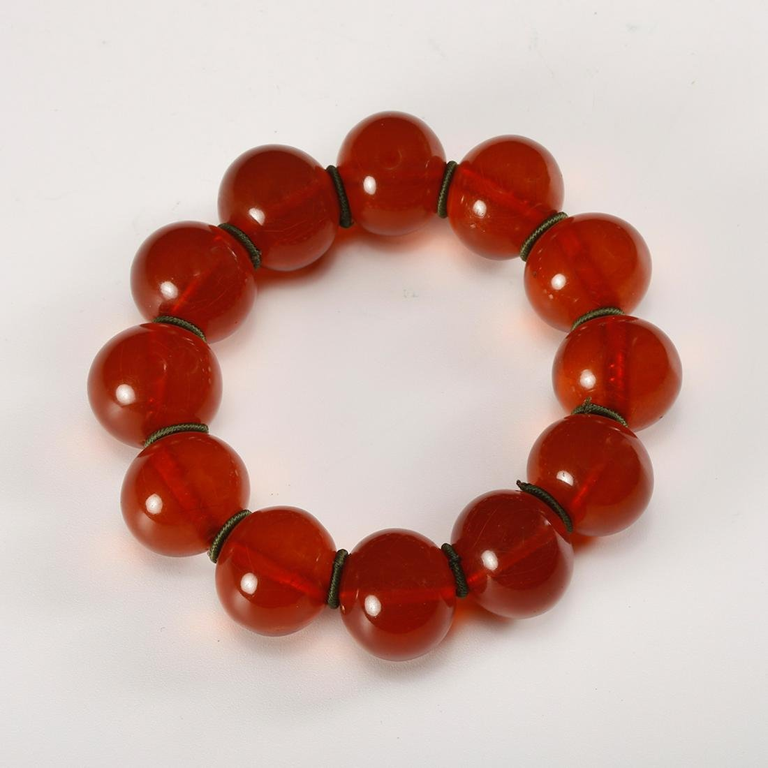 CHINESE AGATE BEADS BRACELET