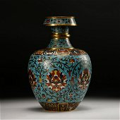 Chinese Cloisonne Foliage Vase