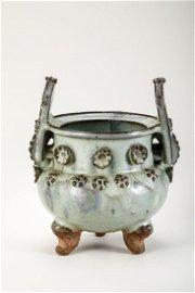 A Jun Yao Porcelain Censer, Possible Yuan Dynasty