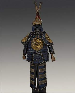 CHINESE QING DYNASTY WARRIOR ARMOR SET
