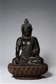 CHINESE BRONZE FIGURE OF BUDDHA