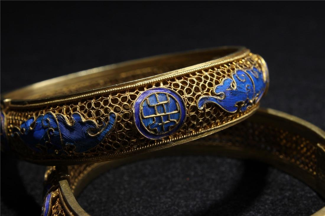 Made of silver and gold plated bracelet - 3