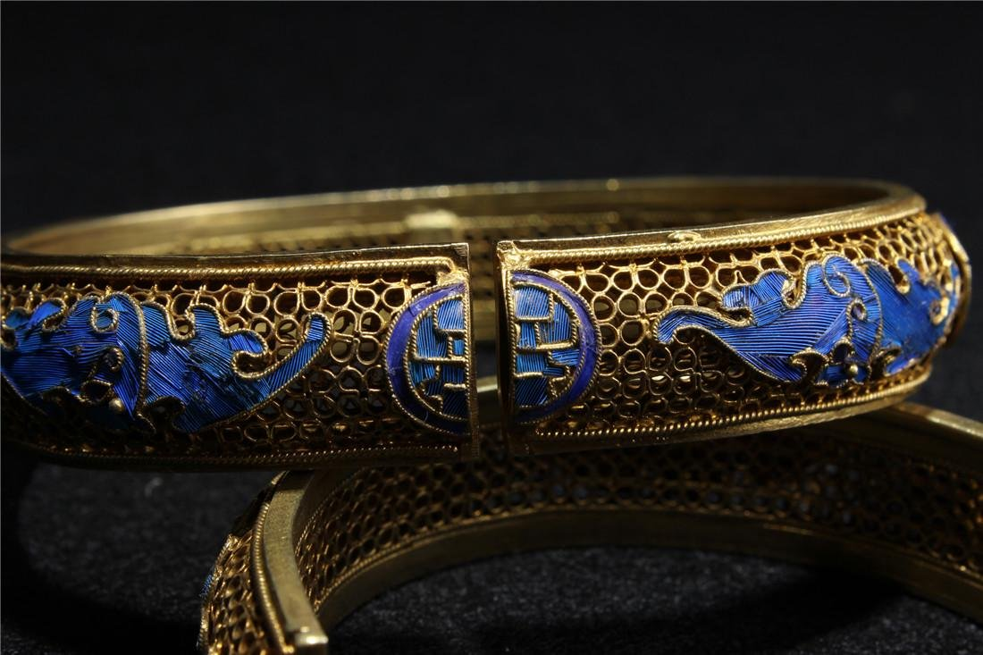 Made of silver and gold plated bracelet - 4