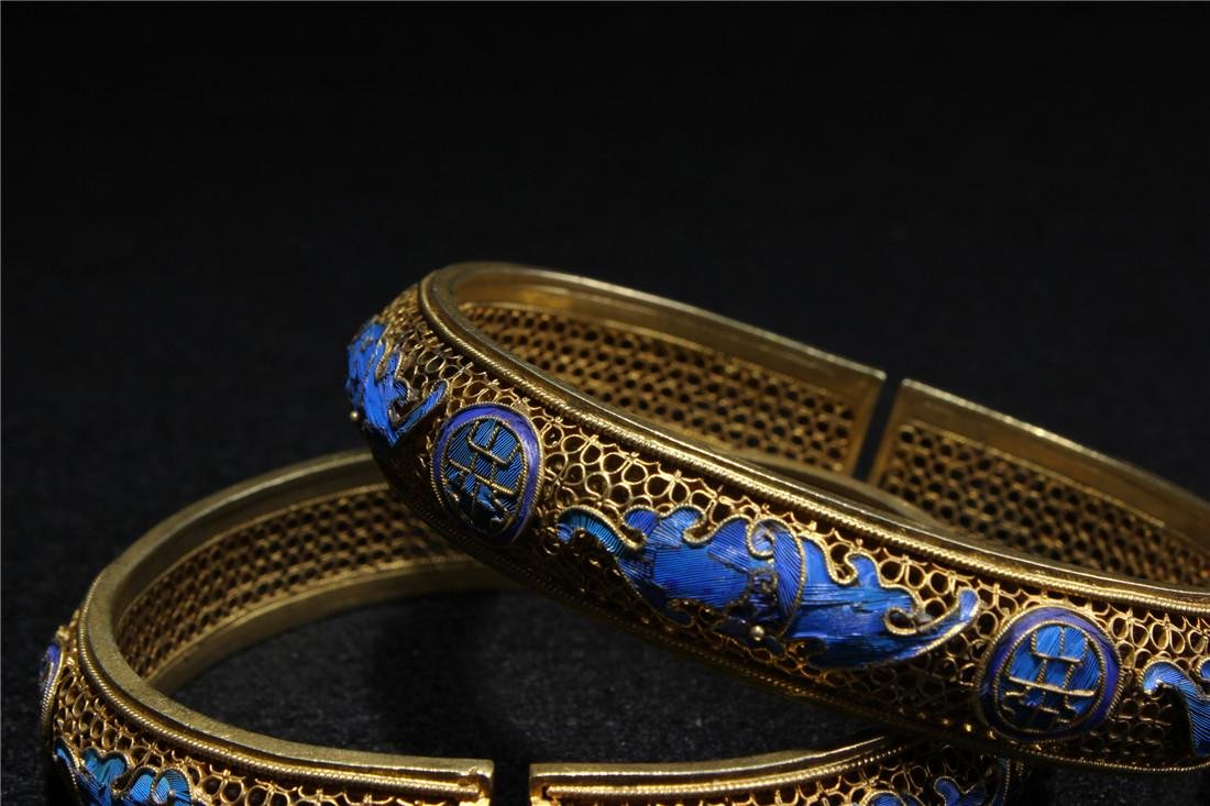 Made of silver and gold plated bracelet - 6