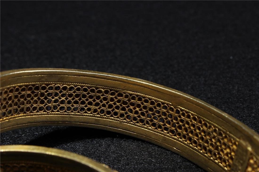 Made of silver and gold plated bracelet - 7