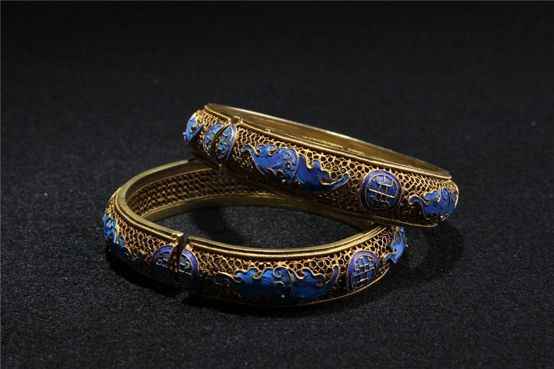 Made of silver and gold plated bracelet - 8