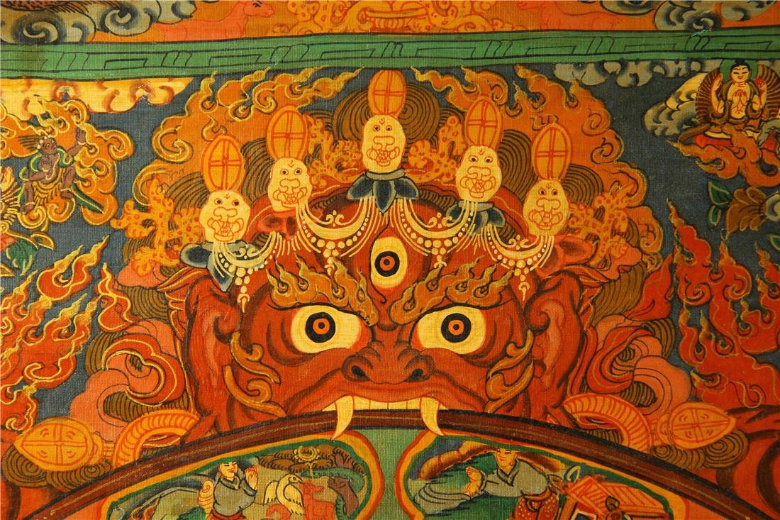 A beautifully painted Thangka - 2
