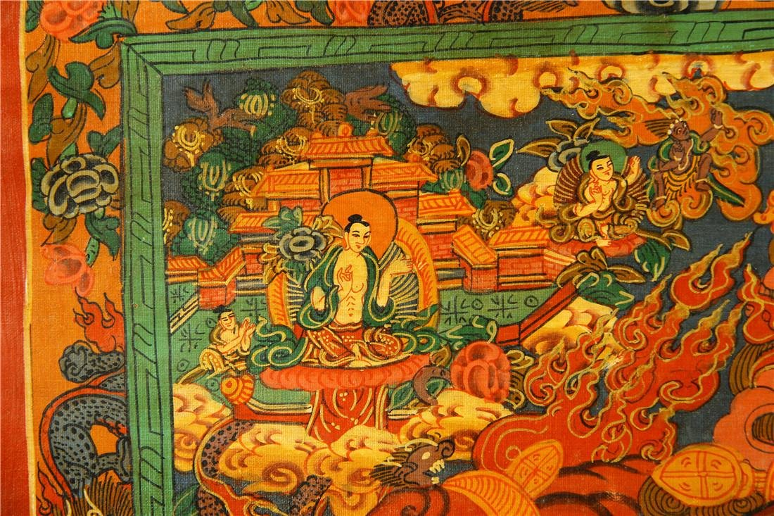 A beautifully painted Thangka - 3