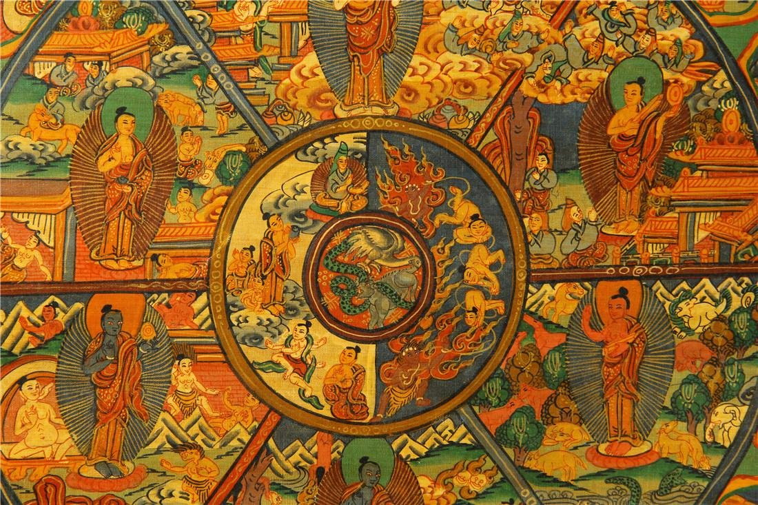 A beautifully painted Thangka - 4