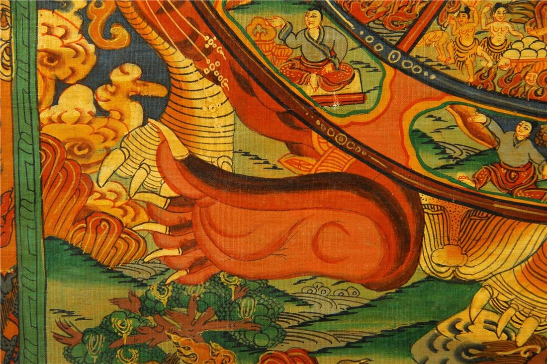 A beautifully painted Thangka - 6