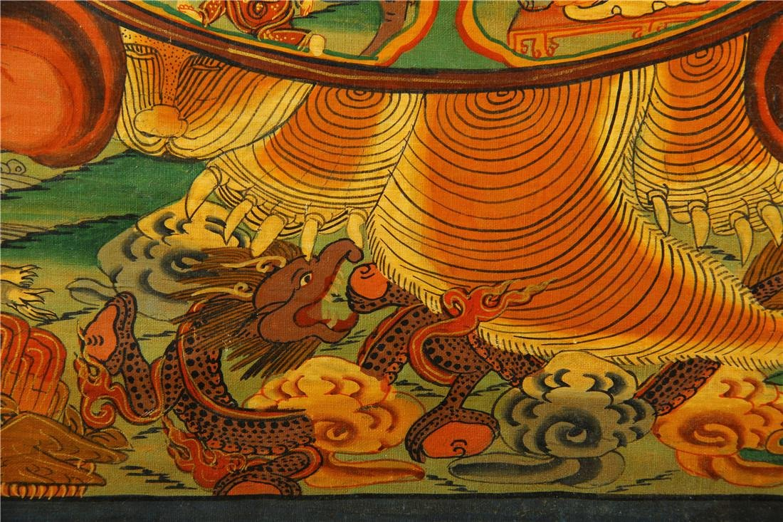 A beautifully painted Thangka - 7