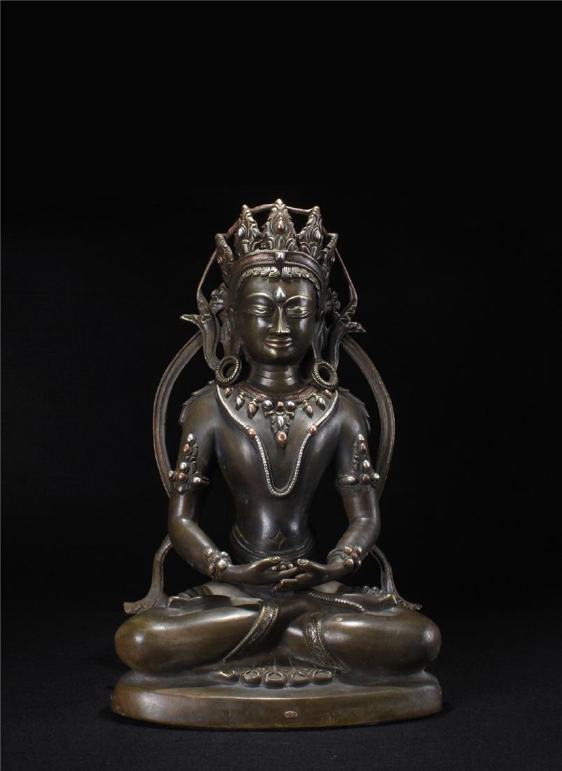 The bronze Buddha statue of Tibet