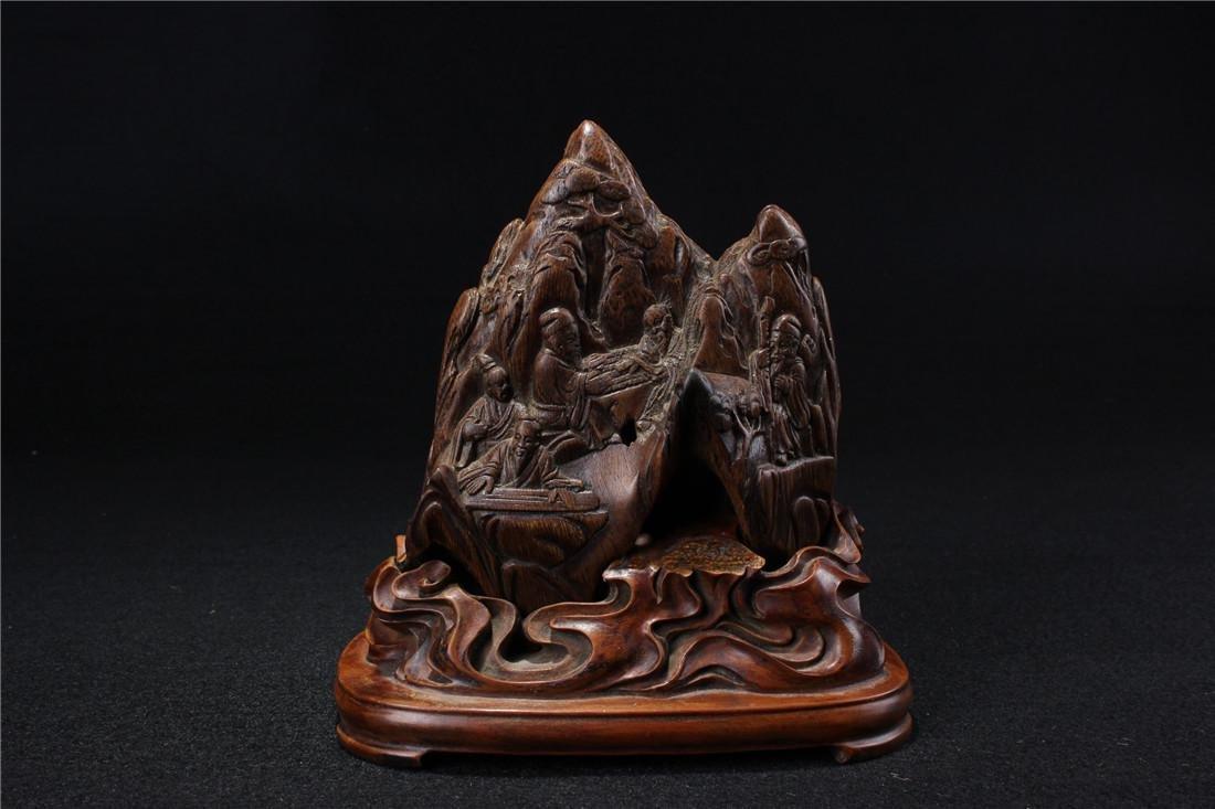Incense carved landscape ornaments